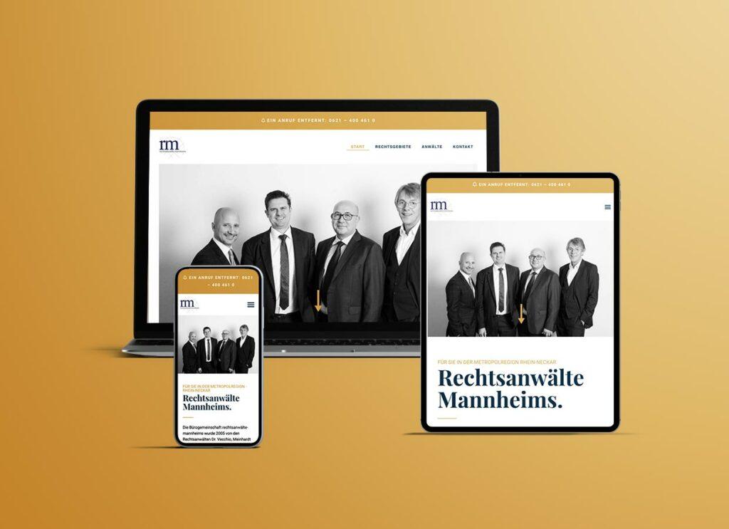 Neue Webseite, Rechtsanwälte Mannheims
